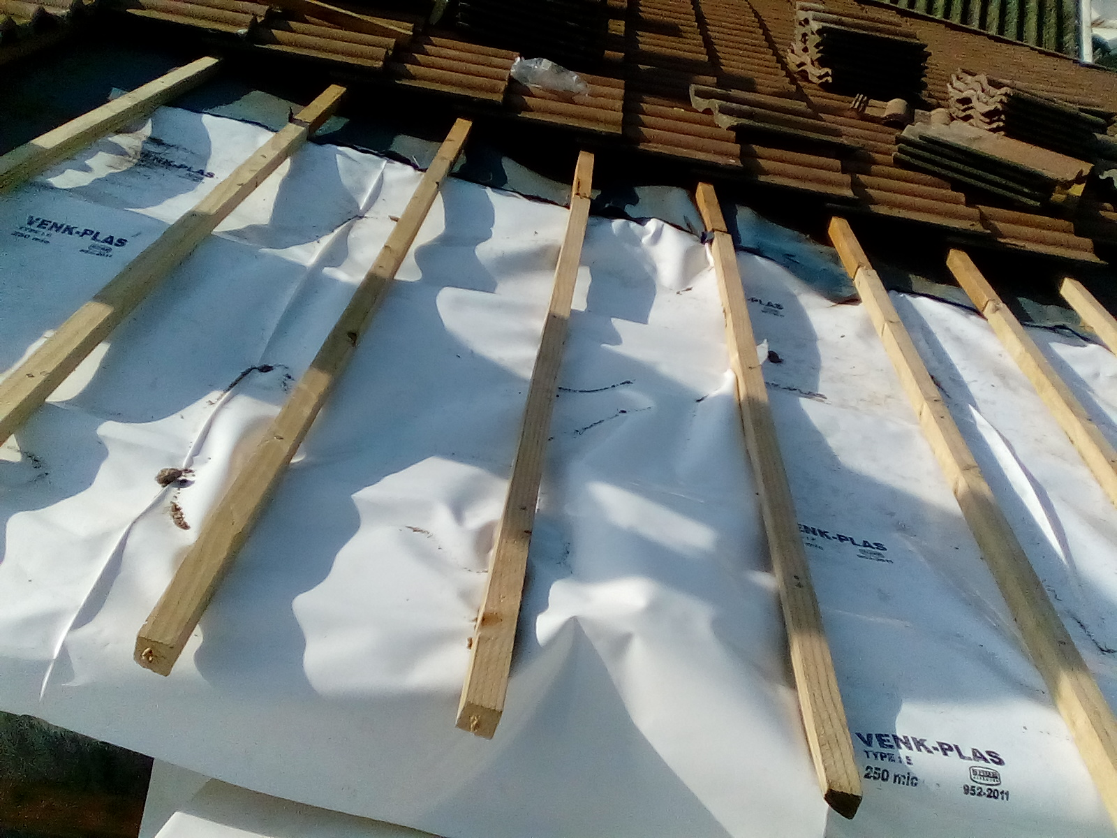 roofing project underlay batten replacement 4