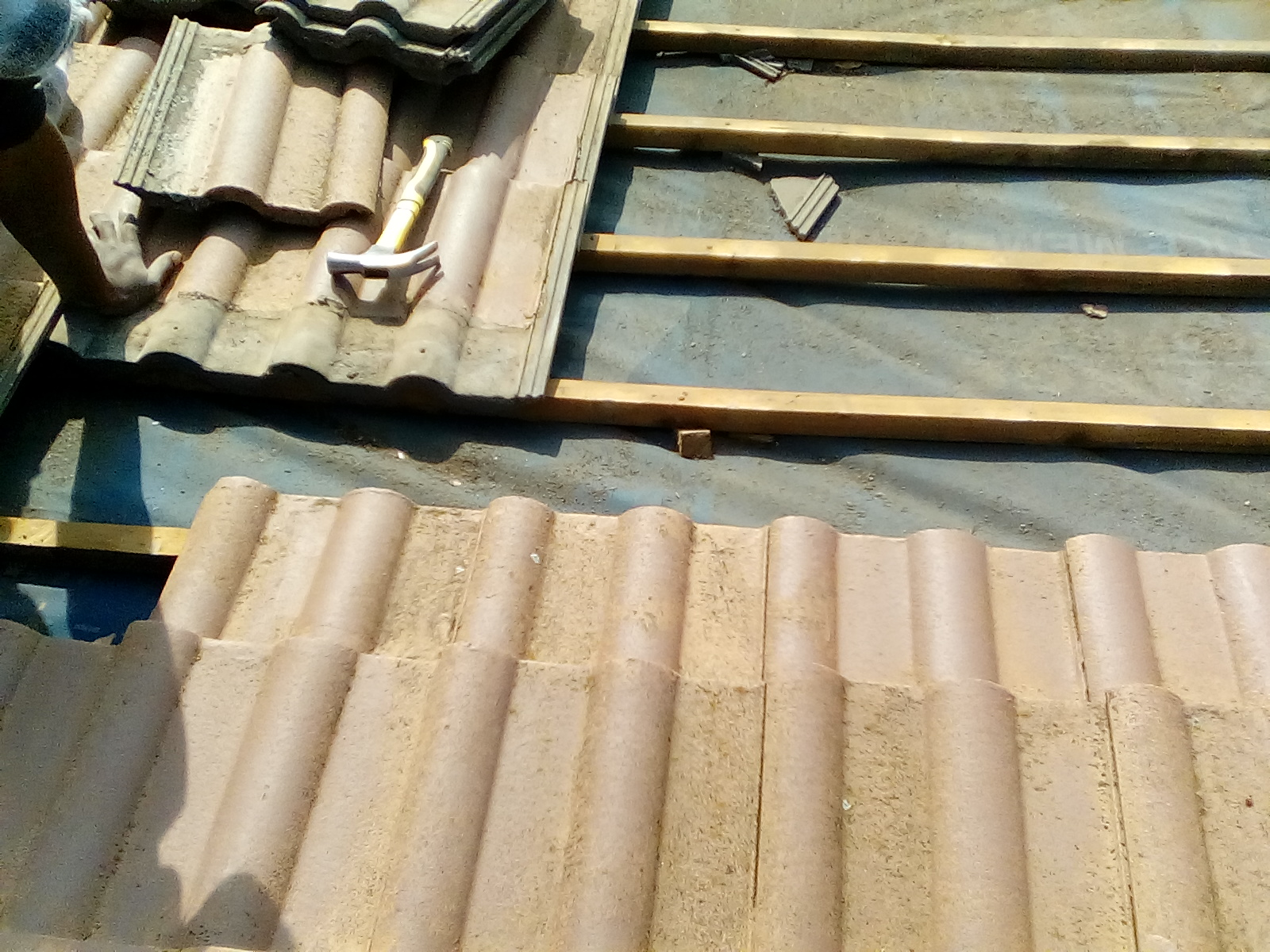 roofing project underlay batten replacement 2